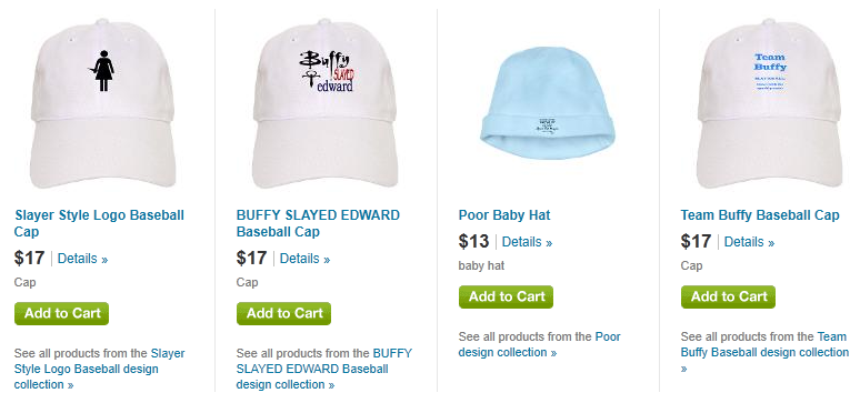 buffy caps hats